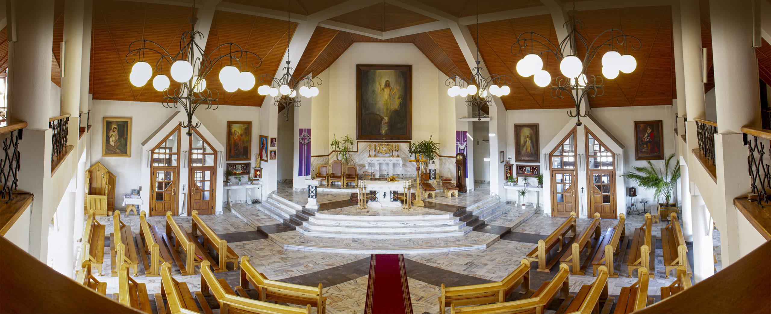 Wnętrze kościoła pw. Św. Brata Alberta w Nowym Targu